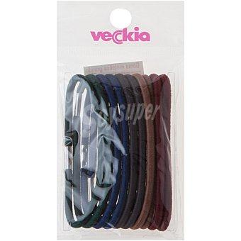 Veckia Goma para el pelo metálica grande Bolsa 10 unidades