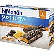 Sustitutive barritas sabor chocolate negro y naranja caja 8 unidades 8 unidades Bimanan
