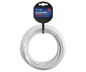 SEVENON Rollo de 10 metros de cable H05VVH2-F, 2x1mm, color blanco, sevenon