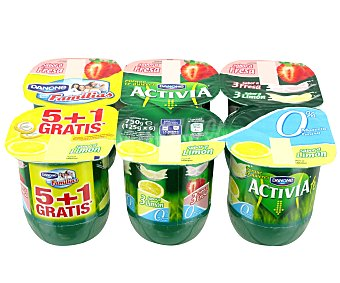 Activia Danone Activia 0% fresa-limón Pack 6x125 g