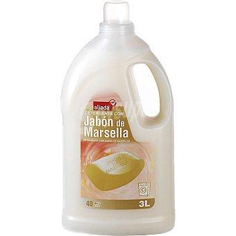 Aliada Detergente máquina líquido con jabón de Marsella 40 dosis botella 3 l 40 dosis
