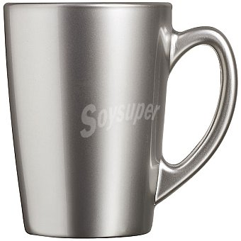 LUMINARC Flashy mug de vidrio metalizado en color plata 32 cl 32 cl