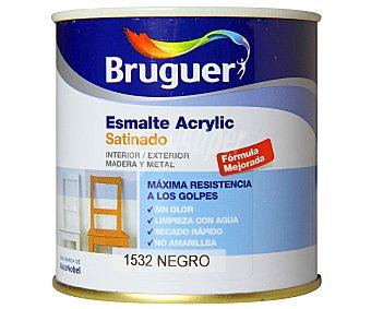 Bruguer Esmalte decorativo acrílico, de color negro y con acabado satinado 0,25 litros