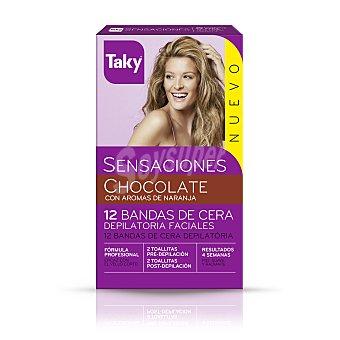 Taky Sensaciones bandas de cera depilatorias faciales Caja 12 u