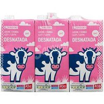 Eroski Leche Desnatada Pack 6x1 litro
