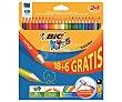 Caja con 24 lápices para colorear, con mina extra dura y hechos de madera reciclada al 50% BIC Kids Kids evolution  Evolution