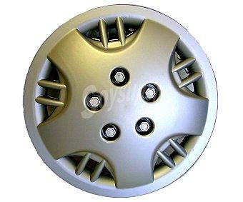 """CAR ACCESORIES Juego de 4 tapacubos, modelo Michigan, fabricados en ABS para ruedas de 15"""" con acabado en color gris 1 unidad"""