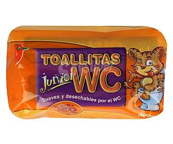 Auchan Toallitas WC Junior Pack de 60 Unidades