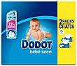 Bebé-Seco pañales de 6 a 10 kg talla 3 caja 140 unidades Dodot