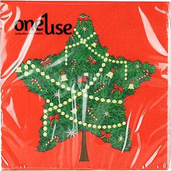 ONEUSE Servilletas decorado árbol de navidad 2 capas 33x33 cm Paquete 20 unidades