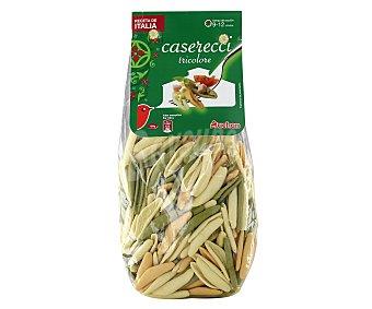 Auchan Casereccis, pasta de sémola de trigo duro de calidad superior a las espinacas y tomate 500 Gramos