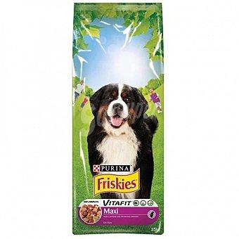 Purina Friskies Comida para perros Maxi con Carne Bolsa 15 kg