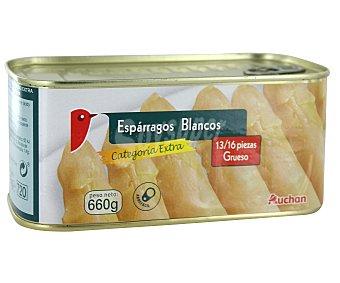 Auchan Esparragos blancos de categoría extra 13/16 piezas Lata de 425 gramos