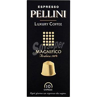 PELLINI ESPRESSO Luxury Coffee Magnífico arábica 100% caja 10 cápsulas caja 10 c