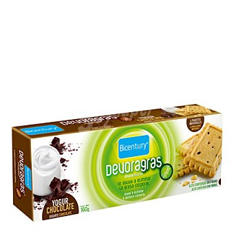 Bicentury Galletas de yogur y chocolate Devoragras envase 160 g