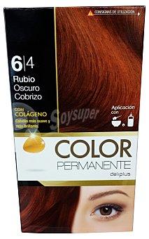 Deliplus Tinte coloracion permanente Nº 6,4 rubio oscuro cobrizo (contiene colageno para hidratar) u