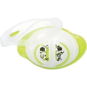 Tigex Plato con tapa Bebe Gourmet para microondas +3 meses blister 1 unidad 1 unidad