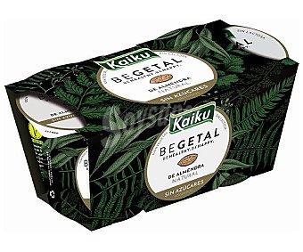 Kaiku Preparado de almendras fermentado natural sin azúcares añadidos begetal 2 x 115 g