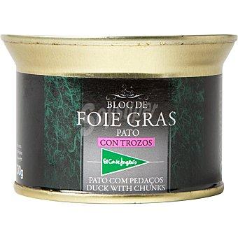 El Corte Inglés Bloc de foie gras con trozos de pato lata 130 g Lata 130 g