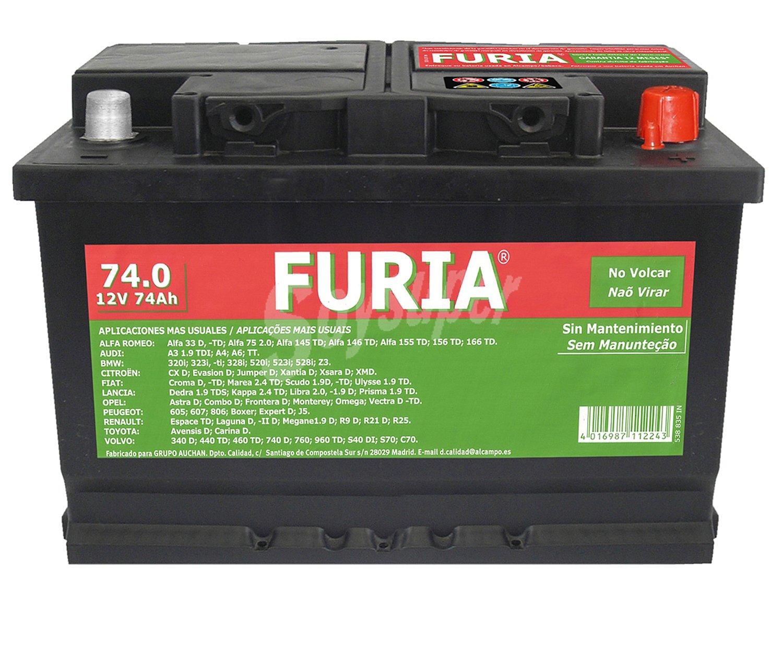 Bateria furia 74ah