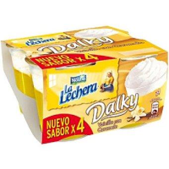 La Lechera Nestlé Dalky de vainilla Pack 4x100 g
