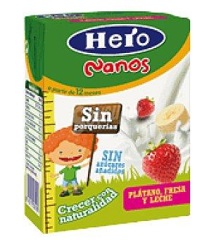 Hero Baby Zumo plátano, fresa y leche Nanos 200 ml
