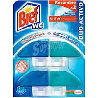 Bref WC Limpiador wc colgador líquido azul Pack 2 unid