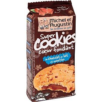 MICHEL ET AUGUS Super Cookies galletas rellenas de chocolate con leche fundido Paquete de 180 g