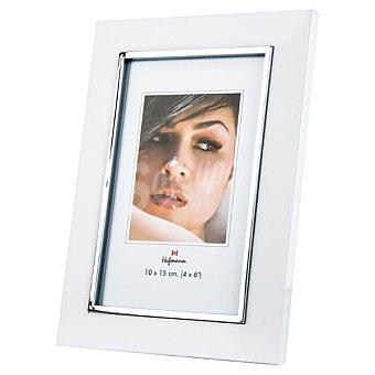 Hofmann Portafotos de metal para foto de 15 x 20 cm en color blanco