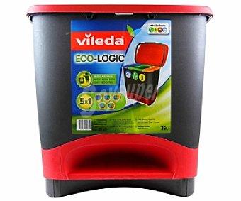 VILEDA Cubo basura Eco-Logic, reciclaje fácil 1 Unidad
