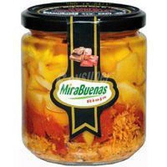 MIRABUENAS Preparado de tortilla-piquilos-atún Tarro 340 g