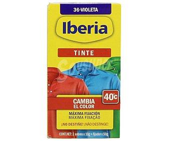 Iberia Tinte para ropa de color violeta (permite teñir a baja temperatura 40ª) 1 ud