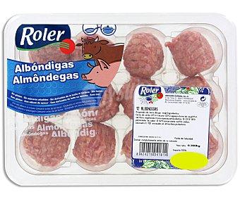 Roler Bandeja de albóndigas mixtas (vacuno-cerdo), elaboradas sin gluten 12 uds