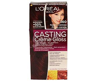 L'Oréal Coloración sin amoniaco color negro cereza Nº 360 Casting Crème Gloss de 1 unidad