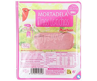 Auchan Mortadela cortada en finas lonchas 150 g