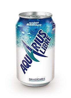 Aquarius Bebida isotonica de limón sin azúcar Lata 33 cl