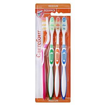 Carrefour Cepillo dental medio 4 ud