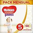 Ultra Comfort Pants pañales braguita de 12 a 17 kg talla 5 bolsa 68 unidades Huggies