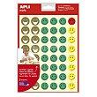 Hoja de gomets adhesivos y removibles con Smileys con diferentes estados de ánimo apli  APLI