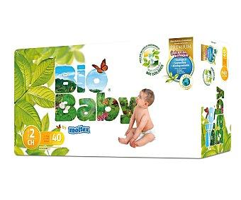 Moltex Pañales biodegradables talla 2 (5-8 kilogramos) 40 unidades