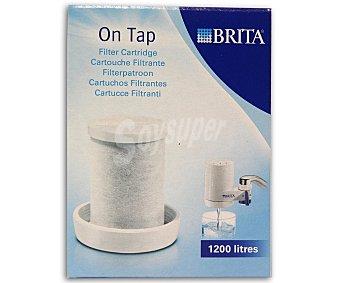 Brita Recambio para sistema de filtrado de grifo On Tap, durabilidad de 1200 litros, 3 meses aproximadamente 1 Unidad