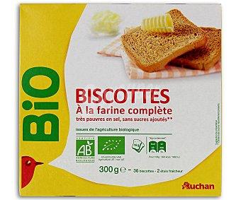 Vivir Mejor Auchan Biscottes Integrales Bio Bajo Contenido en Sal y en Azúcar Ecológico 300 Gramos