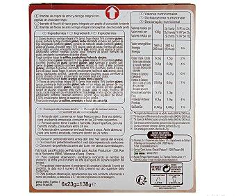 Auchan Barritas de Cereales Con Chocolate Deliform 138g