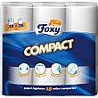papel higiénico compacto más resistente largo y suave paquete 18 rollos Foxy
