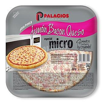 Palacios Mini Pizza Jamón, Bacón y Queso 225 gramos