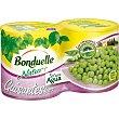Guisantes al natural finos Pack 2 latas x 130 g peso neto escurrido Bonduelle