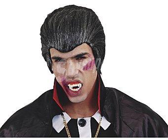 My other me Complemento para disfraz Halloween, Peluca de vampiro color negro y gris Peluca vampiro