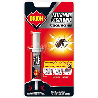 Orion gel jeringa mata cucarachas y pececitos de plata blister 1 unidad
