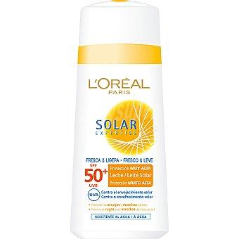 Expertise L'Oréal Paris Leche solar FP-50 fresca & ligera protege las arrugas y manchas solares resistente al agua Frasco 150 ml