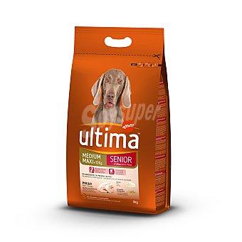Ultima Affinity Comida para perro adultos senior de más de 7 años a base de croquetas de pollo y arroz Saco 3 kg